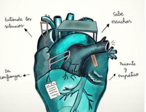 Corazón de fisioterapeuta